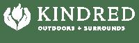 Kindred Outdoors + Surrounds Logo_bw 300dpi_white